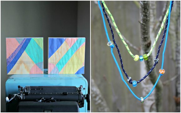 2 Colorful Craft Projects for Spring - at Dollarstorecrafts.com