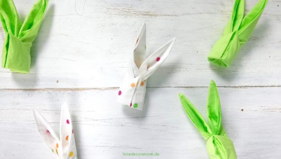 Folding Bunny Napkins