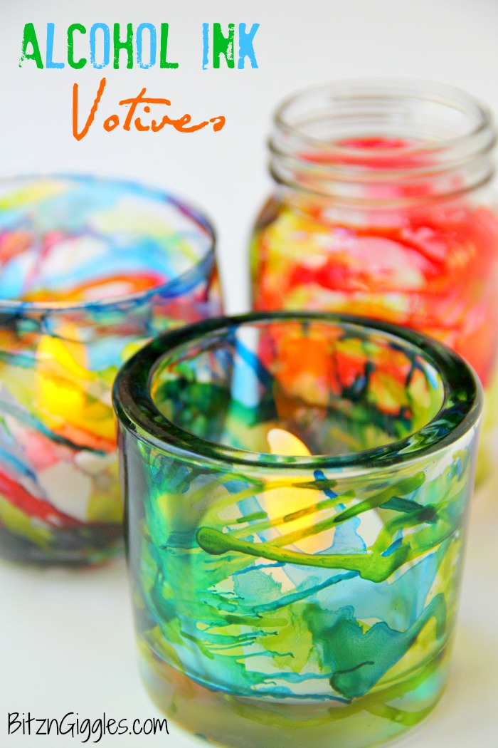 Ink Splatter Votive Holder