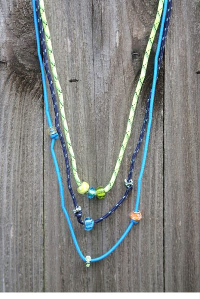 DIY Bungee Bling Necklace