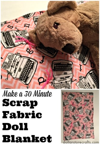 Make a 30 Minute Scrap Fabric Doll Blanket