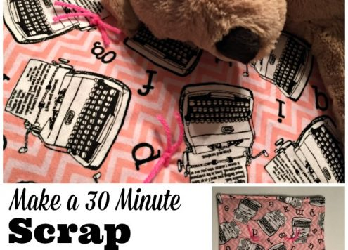 Make a 30 Minute Scrap Fabric Doll Blanket