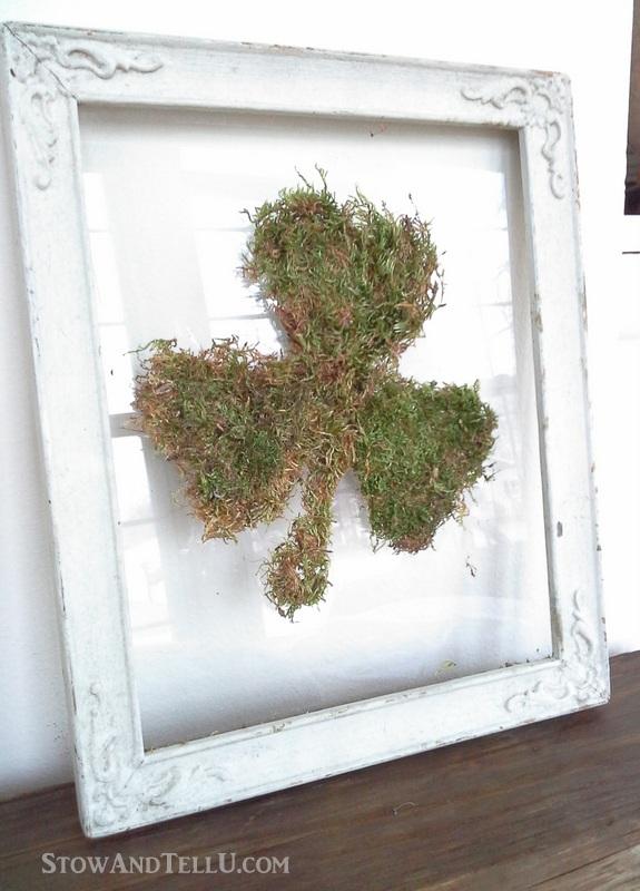 DIY Moss Shamrock