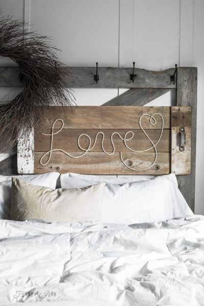 Reclaimed Wood and Rope Sign