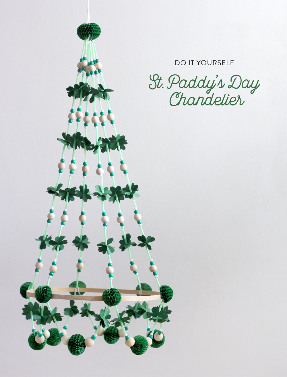 Saint Patricks Day Chandelier
