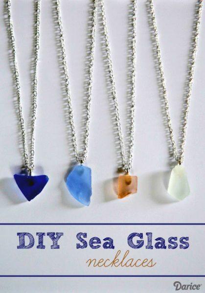 DIY Sea Glass Necklace