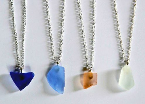 DIY Sea Glass Necklace