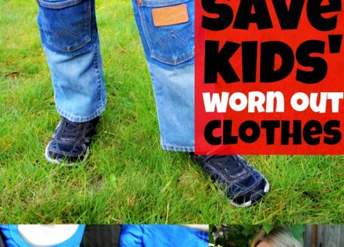 16 ways to save kids' worn out clothes