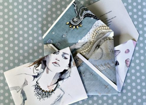 Recycle magazine pages into pretty envelopes