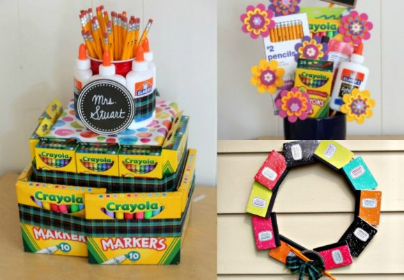 Make Useful Teacher S Gifts From School Supplies Dollar Store Crafts
