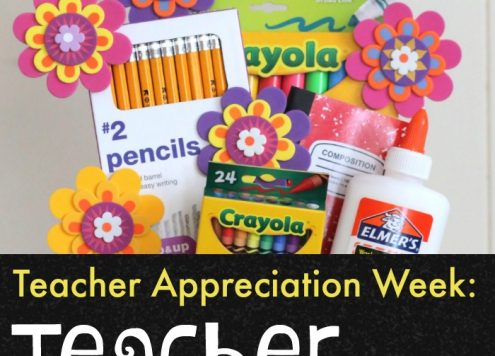 Make Useful Teacher Gifts from School Supplies (and dollar store stuff) - cute crafts