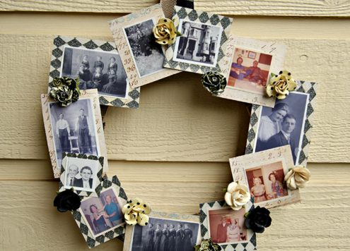 DIY Family Tree Photo Wreath