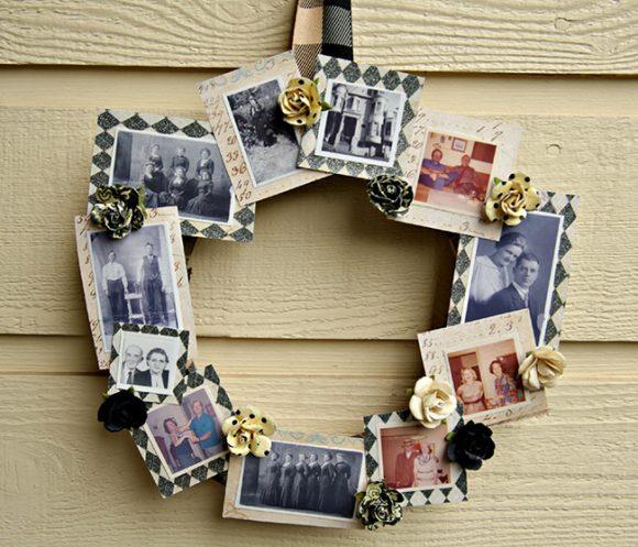 DIY Family Tree Photo Wreath