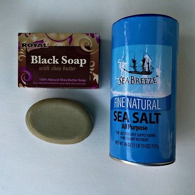 Dollar store ingredients for african black soap salt scrub recipe