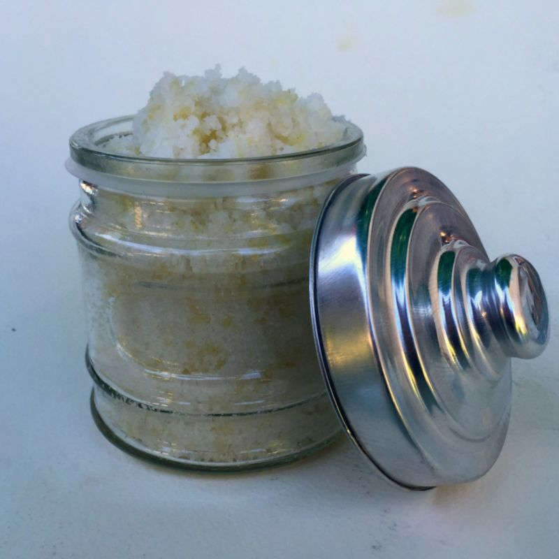 Sea Salt Scrub Recipe: Black Soap, Shea & Coconut Oil