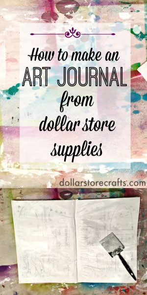 How to make an art journal from a dollar store notebook - great idea and so much cheaper