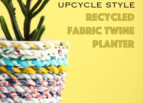 Make a Recycled Fabric Twine Planter