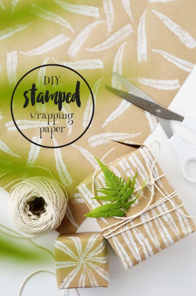 DIY Fern Stamped Wrapping Paper_Mottes Blog (1)