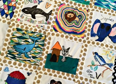 Creative Baby Shower Activity Idea: DIY Quilt Blocks to turn into a keepsake quilt for baby!