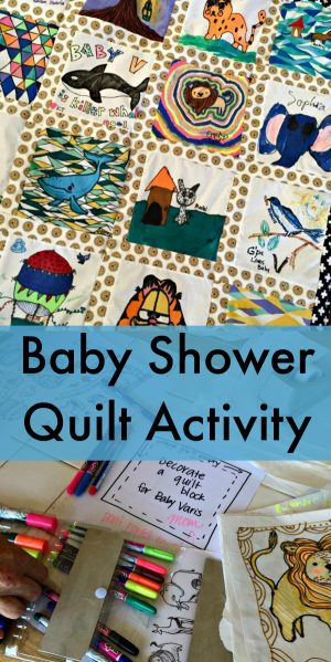 Creative Baby Shower Quilt Activity -- this is so fun and creative!