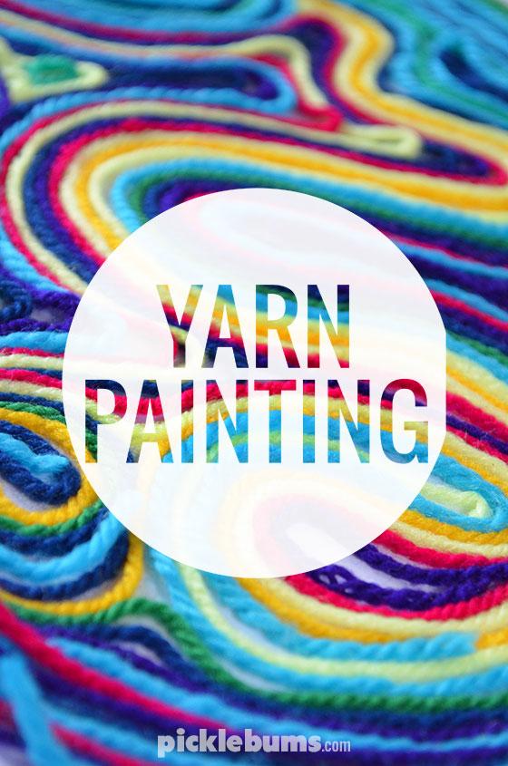 Make Yarn Paintings Dollar Store Crafts