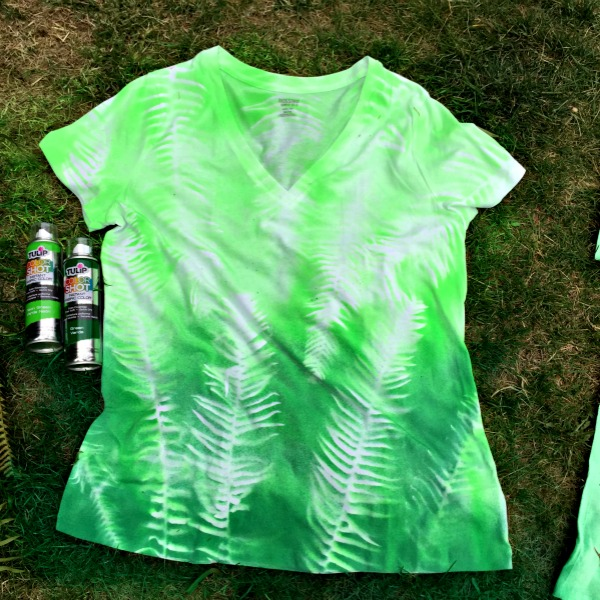 Spray Paint T Shirt Ideas Part - 44: Make A Botanical T-shirt With Fabric Spray Paint