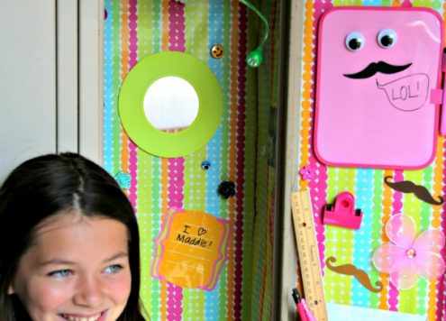 Decorate a Locker for cheap - using stuff from the dollar store