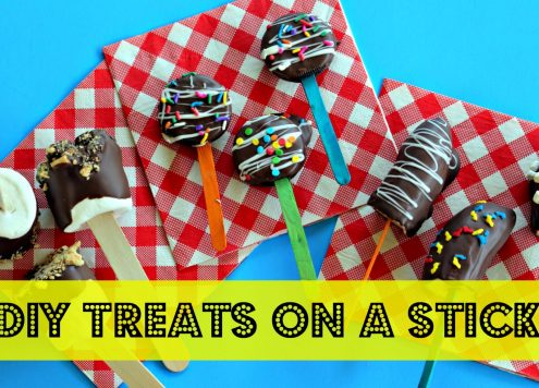It's easy to make DIY treats on a stick - inspired by the State Fair - S'mores on a stick!