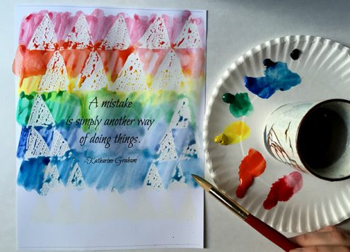 Make easy watercolor quote art - from dollar store crafts