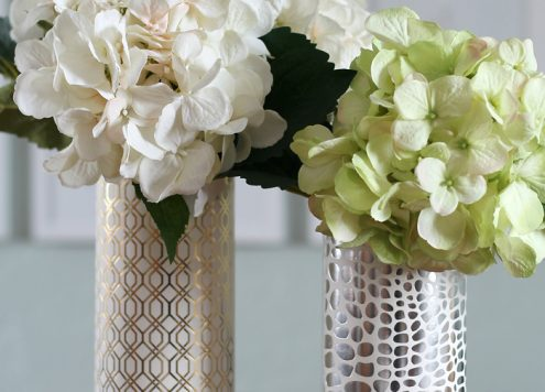 Easy Metallic Modern Vase - Dollar Store Craft!