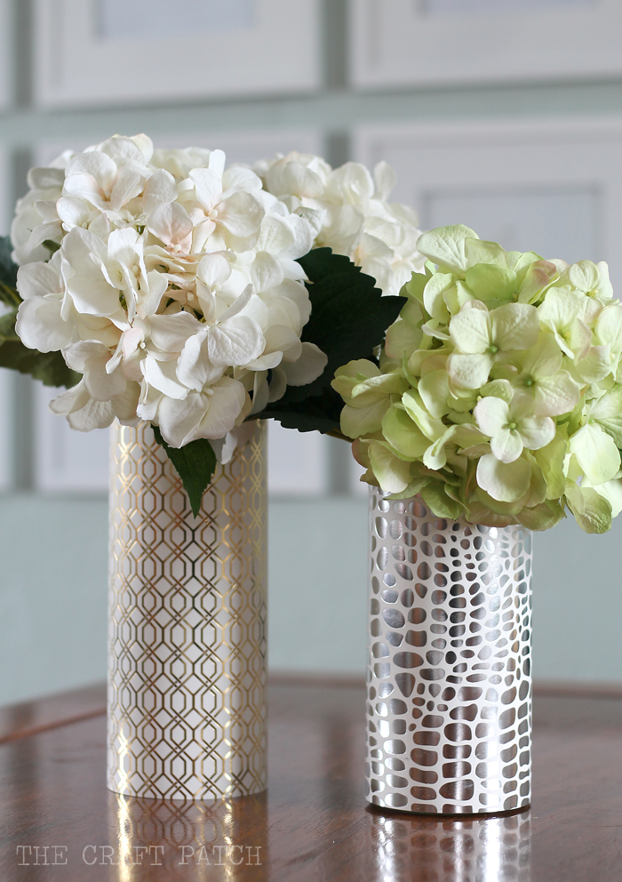 Easy dollar store metallic modern vase crafts
