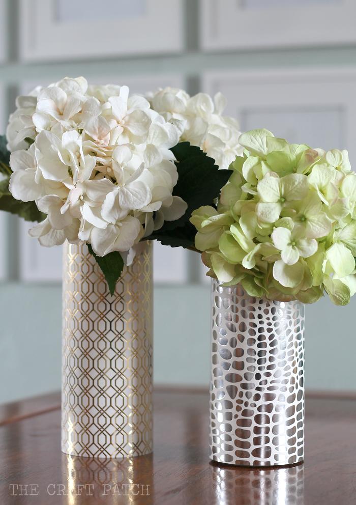 Easy Metallic Modern Vase - Dollar Store Craft!
