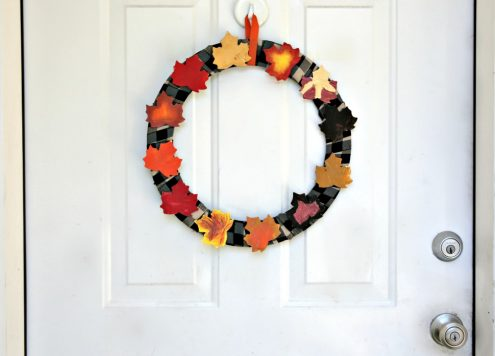 Make a Kid Art Painted Leaf Wreath