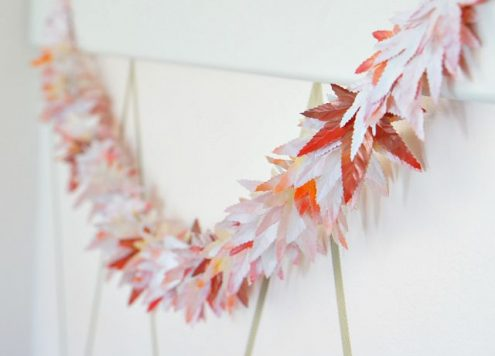 Dollar store craft: easy fall leaf garland