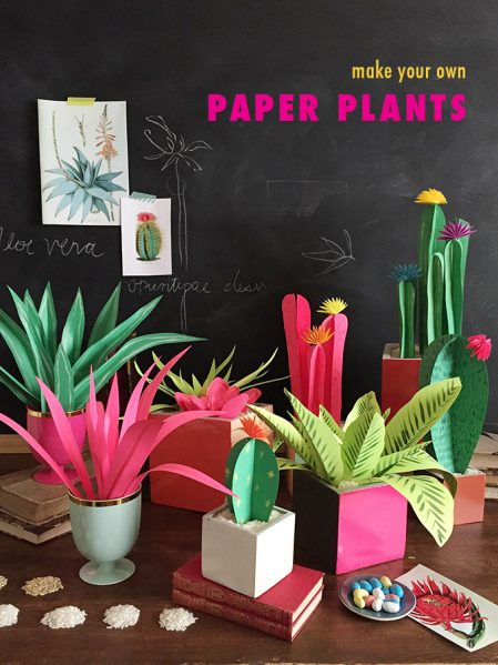 Make Paper Plants for Your Home Decor - Project by House that Lars Built