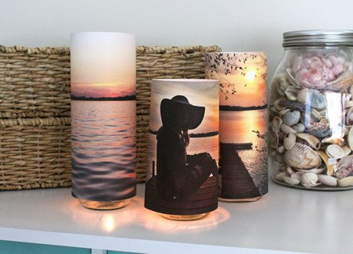 Simple Photo Luminaries - Dollar Store Craft