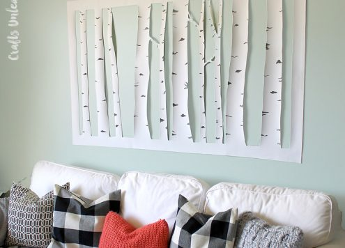 DIY Aspen Tree Wall Art