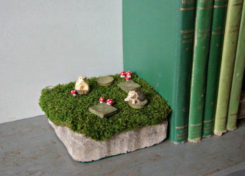 Make Fairy Garden Bookends - Dollar Store Crafts