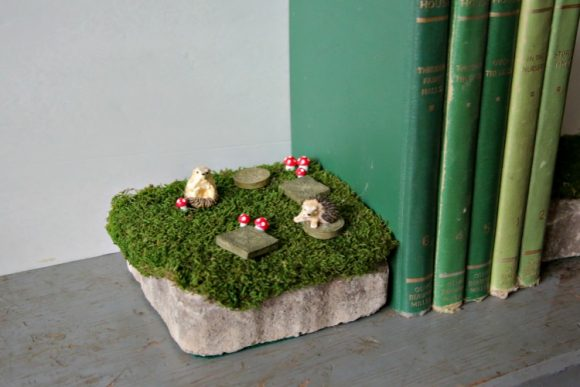Make Fairy Garden Bookends - Dollar Store Crafts