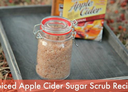 DIY Spiced Apple Cider Sugar Scrub Recipe