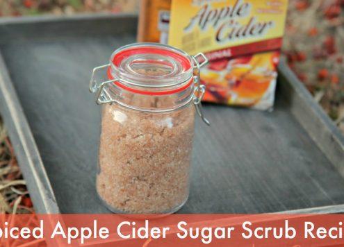 DIY Spiced Apple Cider Sugar Scrub Recipe