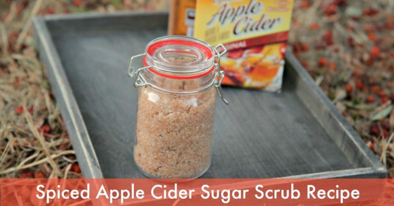 DIY Spiced Apple Cider Sugar Scrub Recipe - Dollar Store Crafts - This is a good cheap sugar scrub recipe.