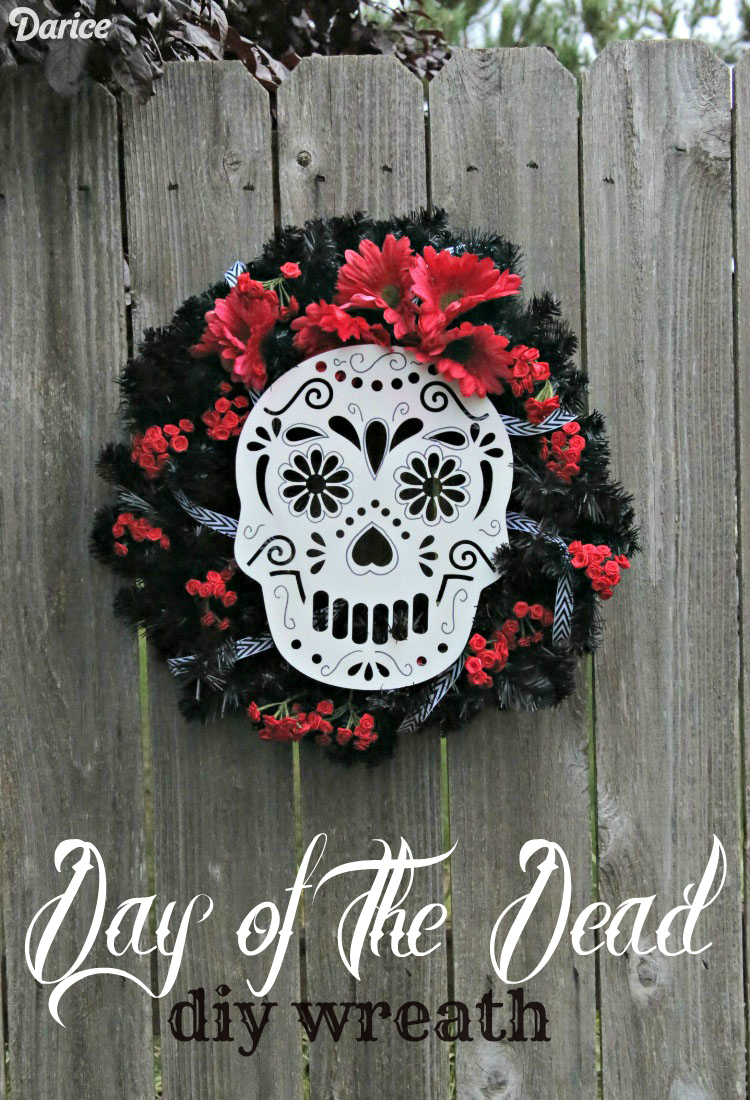 DIY Sugar Skull Wreath for Day of the Dead - Dia de Los Muertos - Dollar Store Crafts