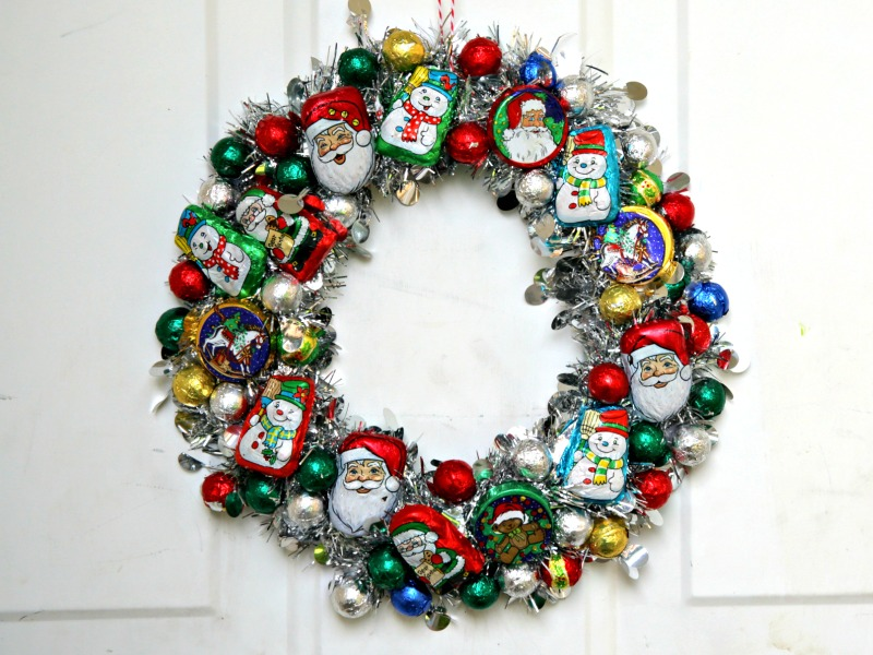 Make a Christmas Candy Wreath » Dollar Store Crafts