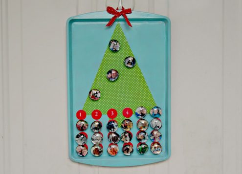 Make a Magnetic Photo Advent Calendar - a dollar store craft