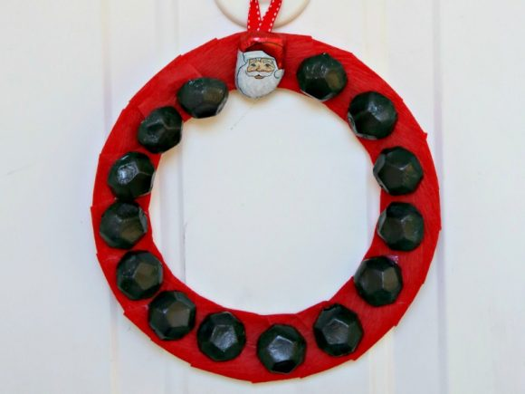 DIY Santa's Coal Wreath - Dollar Store Craft