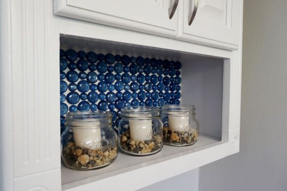 Make a Glass Marble Backsplash