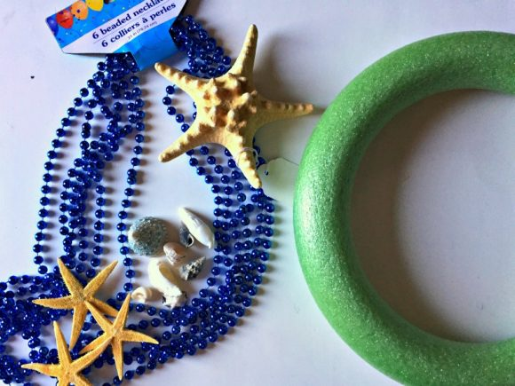 Dollar Store Crafts: Mardi Gras Mermaid Wreath