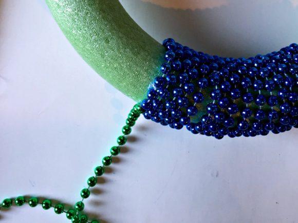 Dollar Store Crafts: Mardi Gras Mermaid Wreath