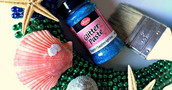 Dollar Store Craft: Mardi Gras Mermaid Wreath